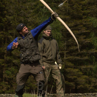 Bowyer shooting an arrow