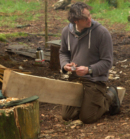prepping a bow stave