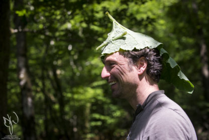 bushcraft instructor in burdock hat