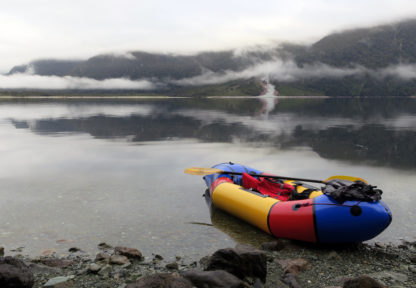 Misty morning with packraft - Nomad course this summer!