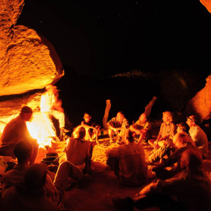 Campfire in Erongo Mountains