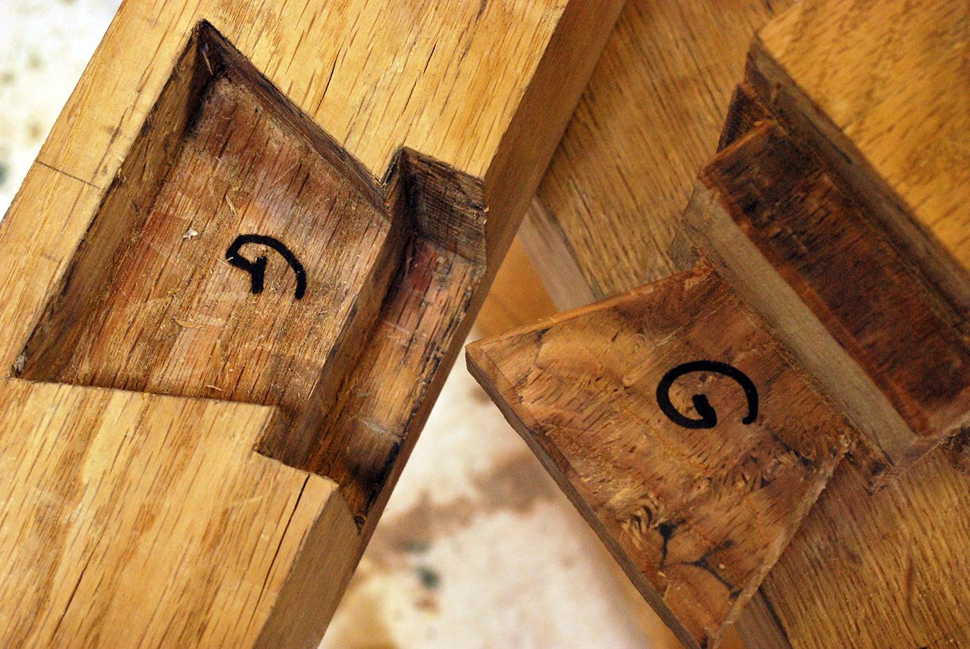 Green Oak Timber Framing & Rustic Shavehorse Construction - Wild Human
